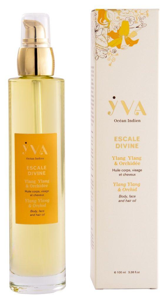Escale Divine huile corps visage et cheveux YVA Océan Indien Beauté et soins aux plantes de lOcéan Indien