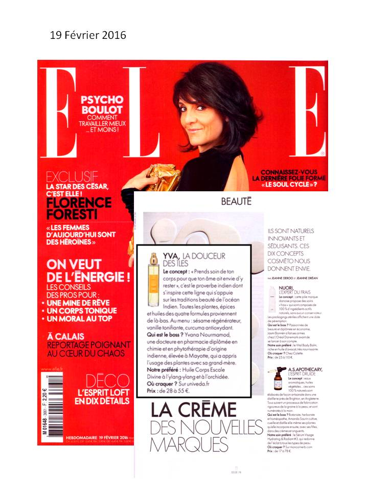Article ELLE Magazine