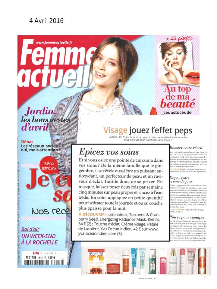 article Femme Actelle avril 2016