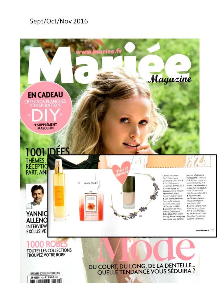 article Mariée Magazine sept 2016